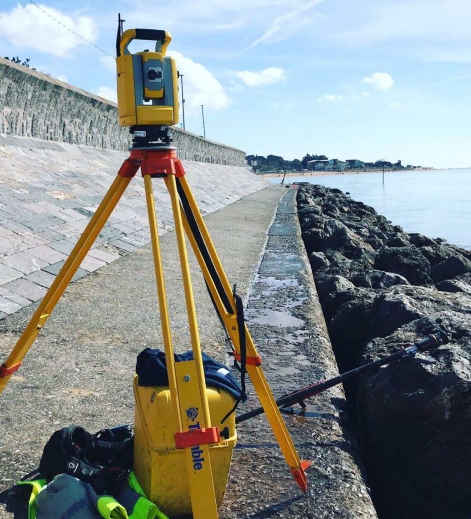 Total Station Sea Defence Land Survey